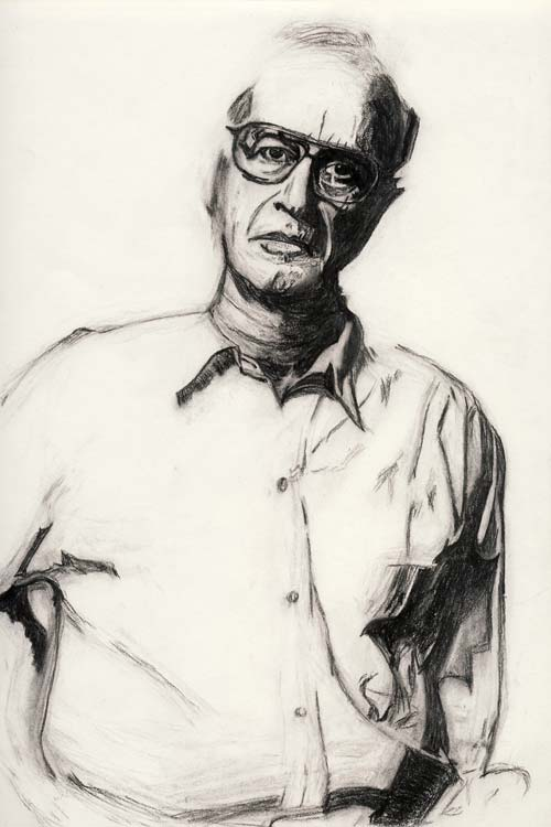Drawing of James Hillman