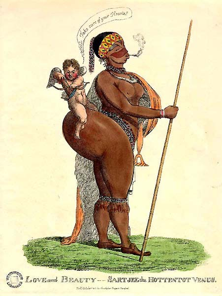 Caricature of Hottentot Venus