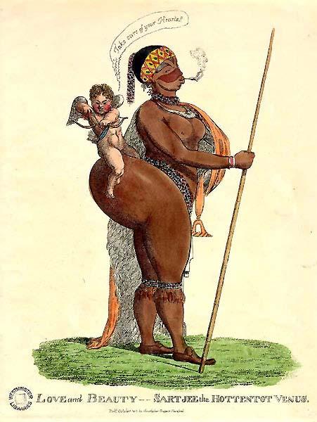 Caricature of Hottentot Venus