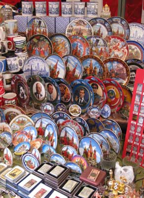 Souvenir plates at Red Square